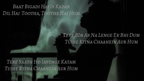 Tujhe Kitna Chahein Aur Hum Song Lyrics Jubin Nautiyal Kabir Singh