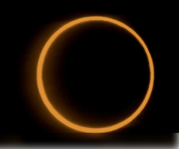 Picture of Ring of fire Solar eclipse 2019