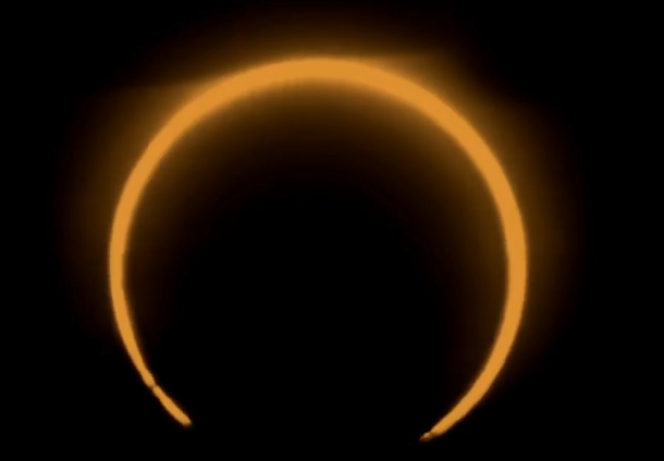 Pictures of total solar eclipse 26 december 2019