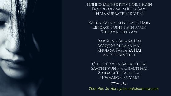Tera Aks Lyrics