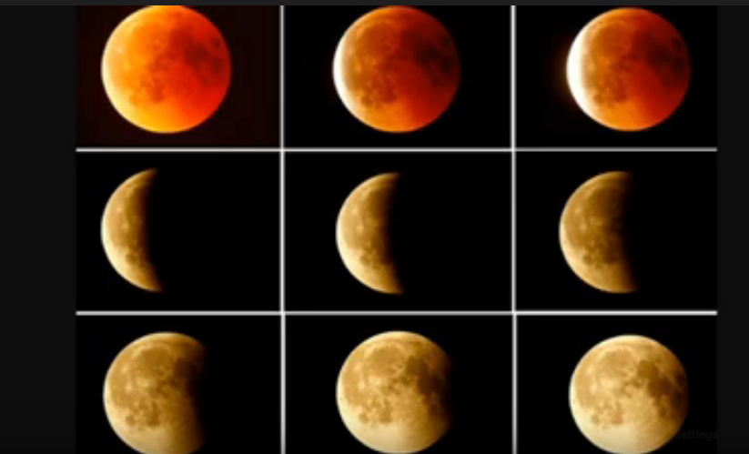 Live shots of lunar eclipse january 2020