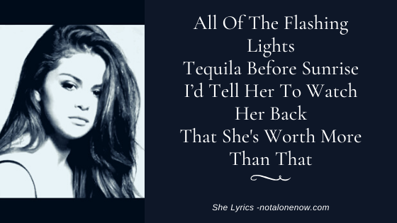 She Lyrics Selena Gomez