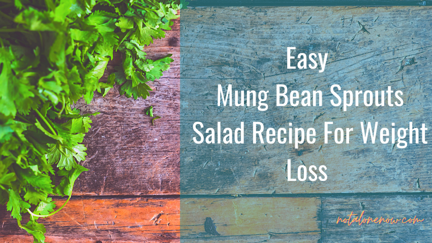Mung Bean Sprouts Salad- Indian salads for Weight loss recipes